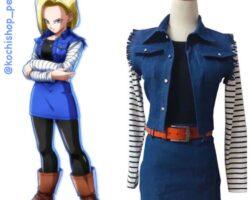 disfraz anime halloween, cosplay anime alquiler, cosplay en alquiler, traje en alquiler, halloween peru, androide 18,